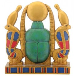 Khepri Cobra Sun Plaque Egyptian Marketplace  Egyptian Decor Statues, Jewelry & Art - God Statues & Museum Replicas