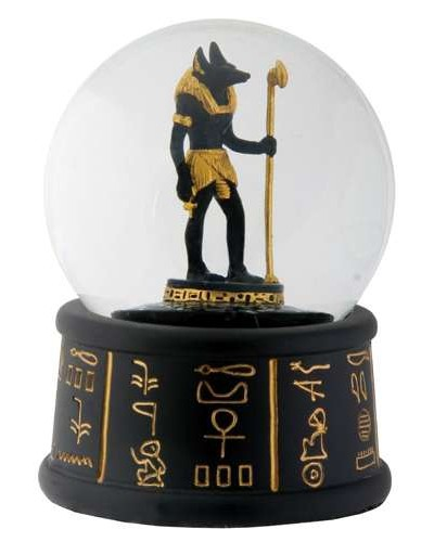 Anubis Egyptian Water Globe at Egyptian Marketplace,  Egyptian Decor Statues, Jewelry & Art - God Statues & Museum Replicas