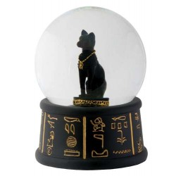 Bastet Egyptian Cat Water Globe Egyptian Marketplace  Egyptian Decor Statues, Jewelry & Art - God Statues & Museum Replicas