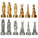 Egyptian Pewter Chess Set at Egyptian Marketplace,  Egyptian Decor Statues, Jewelry & Art - God Statues & Museum Replicas