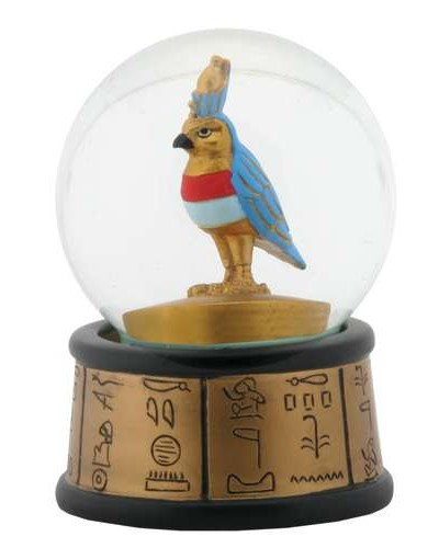 Horus Falcon God Egyptian Water Globe at Egyptian Marketplace,  Egyptian Decor Statues, Jewelry & Art - God Statues & Museum Replicas