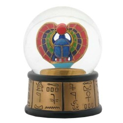Khepri Winged Scarab Egyptian Water Globe Egyptian Marketplace  Egyptian Decor Statues, Jewelry & Art - God Statues & Museum Replicas