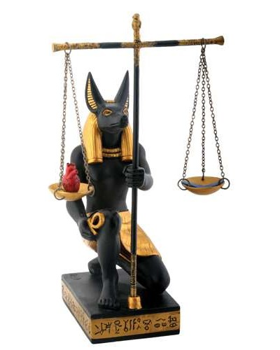 Anubis Scales of Justice Statue at Egyptian Marketplace,  Egyptian Decor Statues, Jewelry & Art - God Statues & Museum Replicas