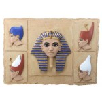 Egyptian Pharaoh Crown Plaque at Egyptian Marketplace,  Egyptian Decor Statues, Jewelry & Art - God Statues & Museum Replicas