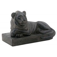 Egyptian Reclining Lion Mini Statue