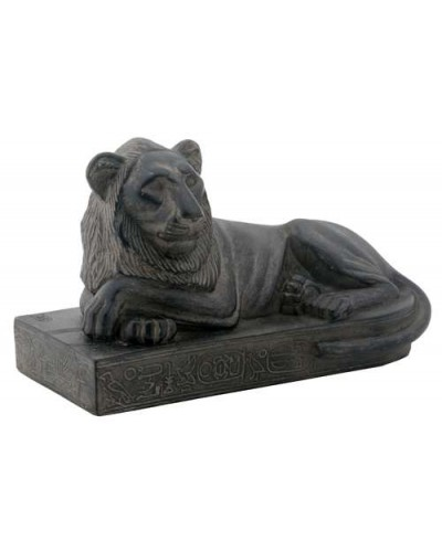 Egyptian Reclining Lion Mini Statue at Egyptian Marketplace,  Egyptian Decor Statues, Jewelry & Art - God Statues & Museum Replicas