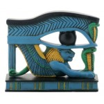 Lion Wedjat Eye of Horus Statue at Egyptian Marketplace,  Egyptian Decor Statues, Jewelry & Art - God Statues & Museum Replicas