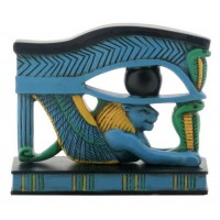 Lion Wedjat Eye of Horus Statue