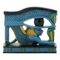 Lion Wedjat Eye of Horus Statue