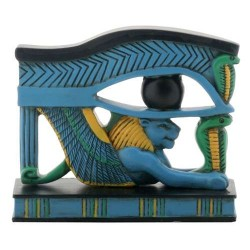 Lion Wedjat Eye of Horus Statue Egyptian Marketplace  Egyptian Decor Statues, Jewelry & Art - God Statues & Museum Replicas