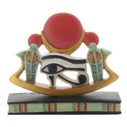 Wedjat Eye of Horus Mini Statue Egyptian Marketplace  Egyptian Decor Statues, Jewelry & Art - God Statues & Museum Replicas