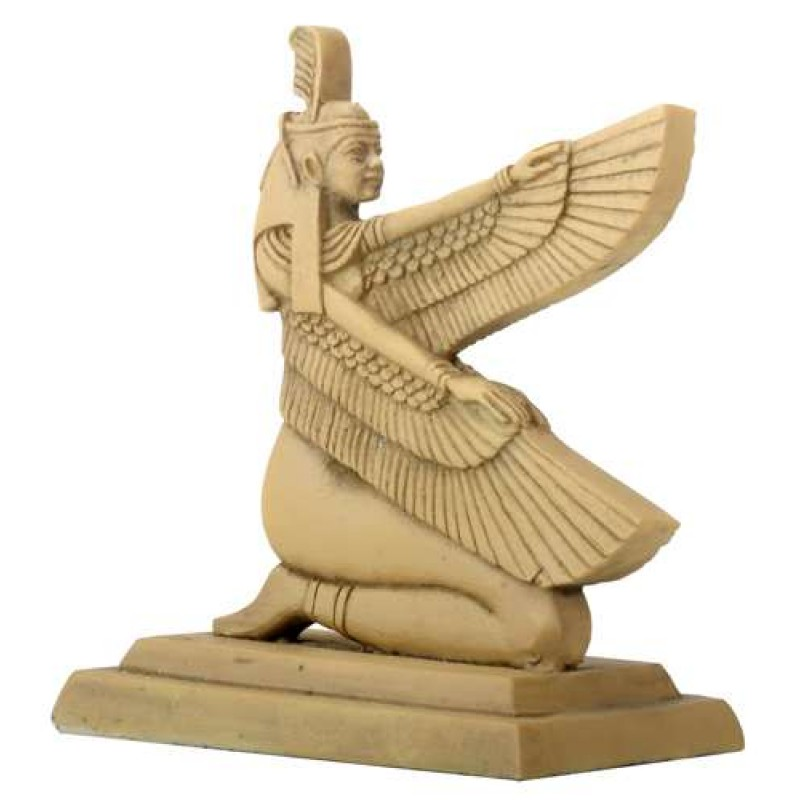 Egyptian Hieroglyphic Maat Cast Resin Statue - 3 Inches
