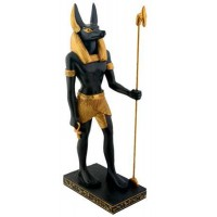 Anubis Egyptian Dog God Statue 8 Inches