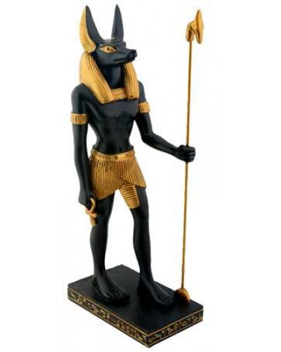 Anubis Egyptian Dog God Statue 8 Inches at Egyptian Marketplace,  Egyptian Decor Statues, Jewelry & Art - God Statues & Museum Replicas