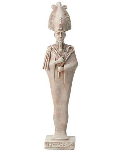 Osiris Egyptian God Limestone Color Statue - 8.5 Inches