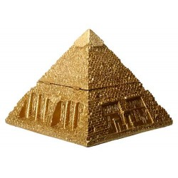 Pyramid Egyptian Golden 5 1/2 Inch Box