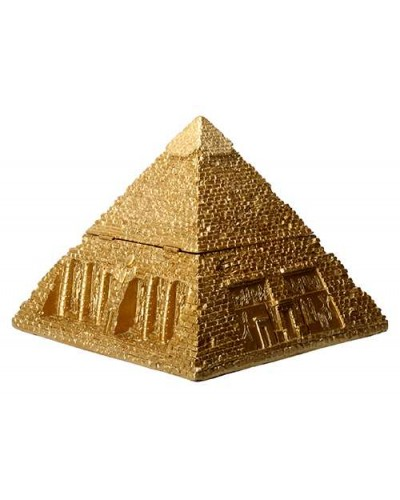 Pyramid Egyptian Golden 5 1/2 Inch Box at Egyptian Marketplace,  Egyptian Decor Statues, Jewelry & Art - God Statues & Museum Replicas