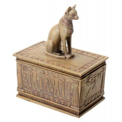 Bastet Sandstone Color Resin 5 Inch Box Egyptian Marketplace  Egyptian Decor Statues, Jewelry & Art - God Statues & Museum Replicas
