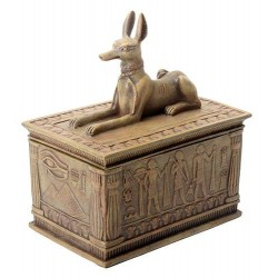 Anubis Sandstone Color Resin 5 Inch Box Egyptian Marketplace  Egyptian Decor Statues, Jewelry & Art - God Statues & Museum Replicas