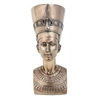 Nefertiti Egyptian Queen 7 Inch Bronze Bust
