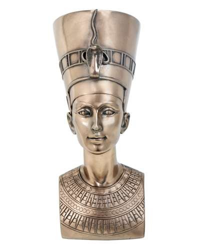 Nefertiti Egyptian Queen 7 Inch Bronze Bust at Egyptian Marketplace,  Egyptian Decor Statues, Jewelry & Art - God Statues & Museum Replicas