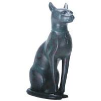 Bastet Antique Bronze Finish Cat Goddess Statue