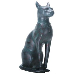 Bastet Antique Bronze Finish Cat Goddess Statue Egyptian Marketplace  Egyptian Decor Statues, Jewelry & Art - God Statues & Museum Replicas