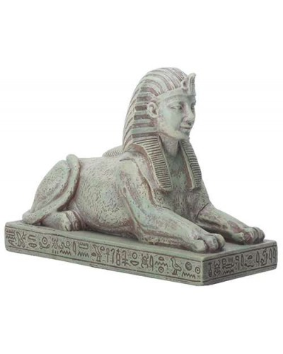 Sphinx Small Stone Finish Resin Egyptian Statue - 3.25 Inches at Egyptian Marketplace,  Egyptian Decor Statues, Jewelry & Art - God Statues & Museum Replicas