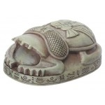 Stone Finish Mini Egyptian Princess Scarab at Egyptian Marketplace,  Egyptian Decor Statues, Jewelry & Art - God Statues & Museum Replicas