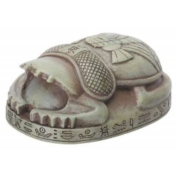 Stone Finish Mini Egyptian Princess Scarab