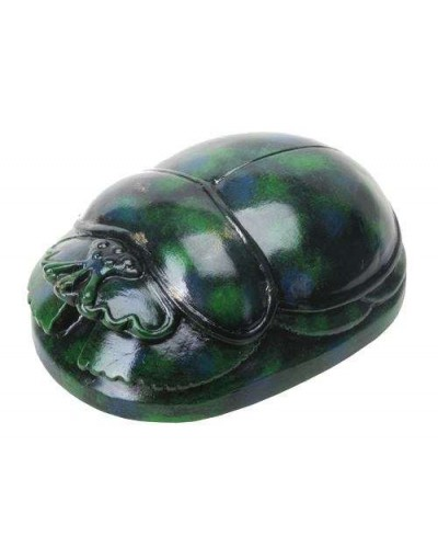 Green Mini Egyptian Scarab at Egyptian Marketplace,  Egyptian Decor Statues, Jewelry & Art - God Statues & Museum Replicas