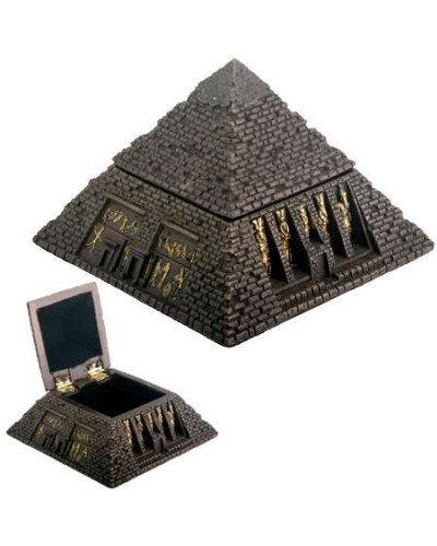 Pyramid Egyptian Bronze Finish 2 3/4 Inch Box at Egyptian Marketplace,  Egyptian Decor Statues, Jewelry & Art - God Statues & Museum Replicas