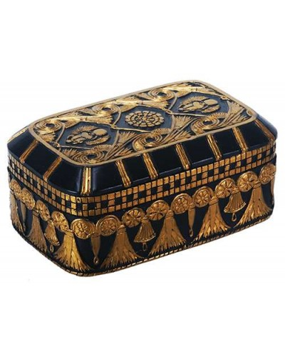 Scarab and Lotus Egyptian Revival Trinket Box at Egyptian Marketplace,  Egyptian Decor Statues, Jewelry & Art - God Statues & Museum Replicas