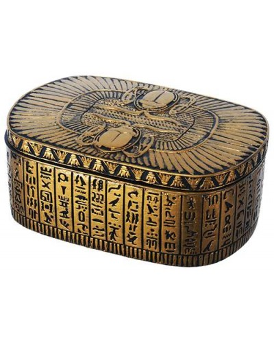 Winged Egyptian Revival Trinket Box at Egyptian Marketplace,  Egyptian Decor Statues, Jewelry & Art - God Statues & Museum Replicas