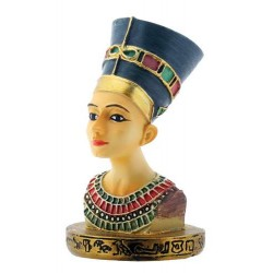 Nefertiti Egyptian Queen Bust Mini Statue