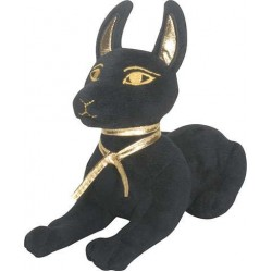 Anubis Egyptian Dog Laying Small Plushie Egyptian Marketplace  Egyptian Decor Statues, Jewelry & Art - God Statues & Museum Replicas