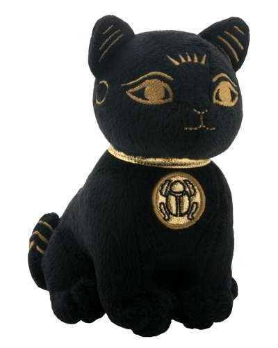 Bast Small Egyptian Cat Plushie at Egyptian Marketplace,  Egyptian Decor Statues, Jewelry & Art - God Statues & Museum Replicas