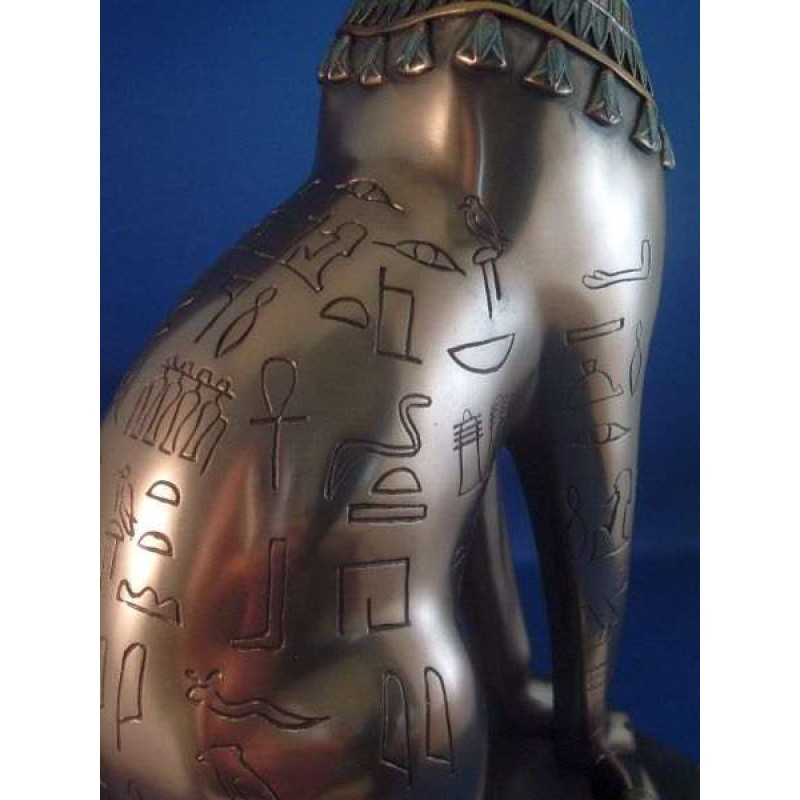 Egyptian Dog God Anubis Jackal Laying Down Statue in Black