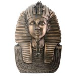 King Tut Bronze Resin Bust at Egyptian Marketplace,  Egyptian Decor Statues, Jewelry & Art - God Statues & Museum Replicas