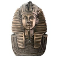 King Tut Bronze Resin Bust