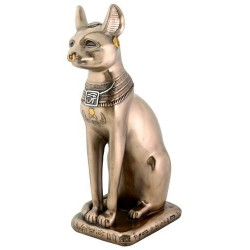 Bastet Bronze Cat Statue Egyptian Marketplace  Egyptian Decor Statues, Jewelry & Art - God Statues & Museum Replicas