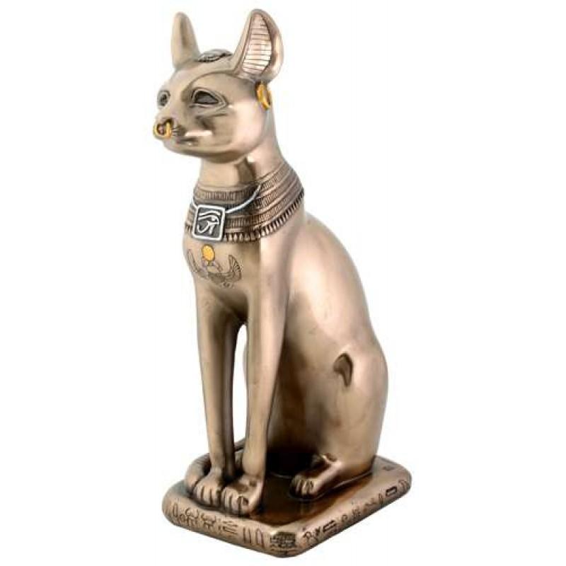 Bastet Bronze Cat Statue At Egyptian Marketplace Egyptian Decor Statues Jewelry Art