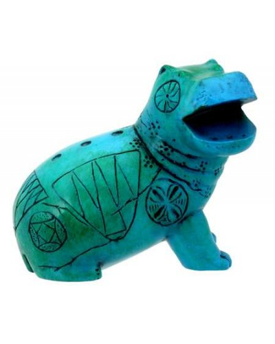 Egyptian Blue Hippo Mini Statue at Egyptian Marketplace,  Egyptian Decor Statues, Jewelry & Art - God Statues & Museum Replicas