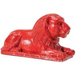 Egyptian Lion Red Statue at Egyptian Marketplace,  Egyptian Decor Statues, Jewelry & Art - God Statues & Museum Replicas