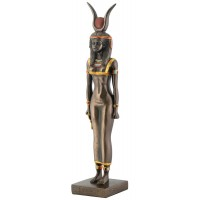 Isis Egyptian Goddess Bronze Finish Statue