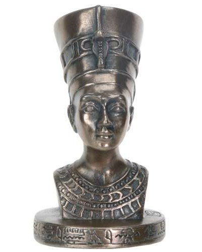 Nefertiti Egyptian Queen Mini Bronze Bust at Egyptian Marketplace,  Egyptian Decor Statues, Jewelry & Art - God Statues & Museum Replicas