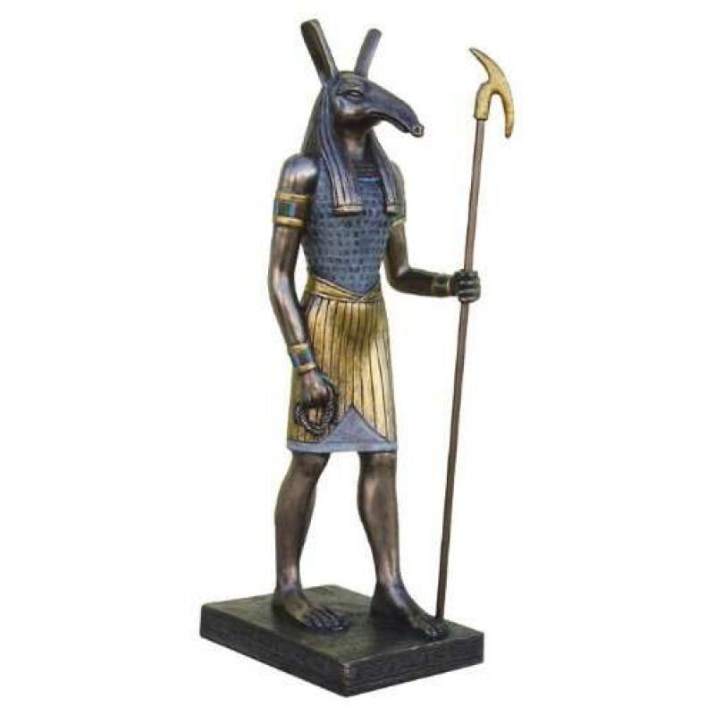 Seth Bronze Resin 8 75 Inch Statue With Was Staff