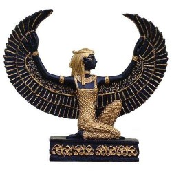 Winged Isis Mini 3 Inch Statue in Black