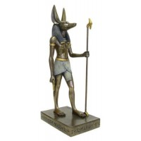 Anubis Egyptian God Large 15.5 Inch Bronze Statue