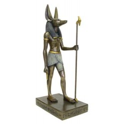 Anubis Egyptian God Large 15.5 Inch Bronze Statue Egyptian Marketplace  Egyptian Decor Statues, Jewelry & Art - God Statues & Museum Replicas